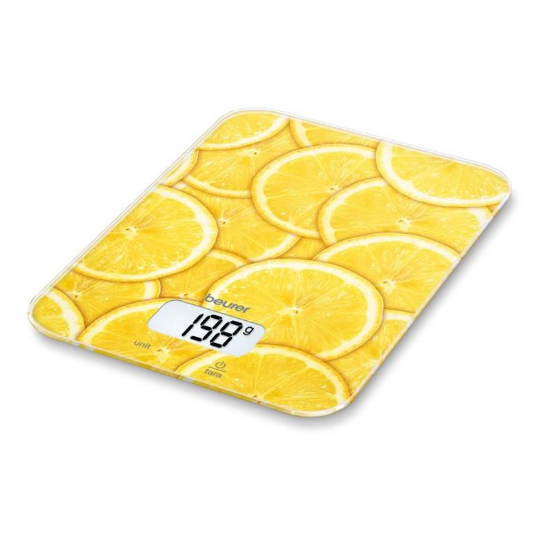 Cantar de bucatarie Beurer KS19 Lemon, 5 kg, taste senzori 2021 shopu.ro