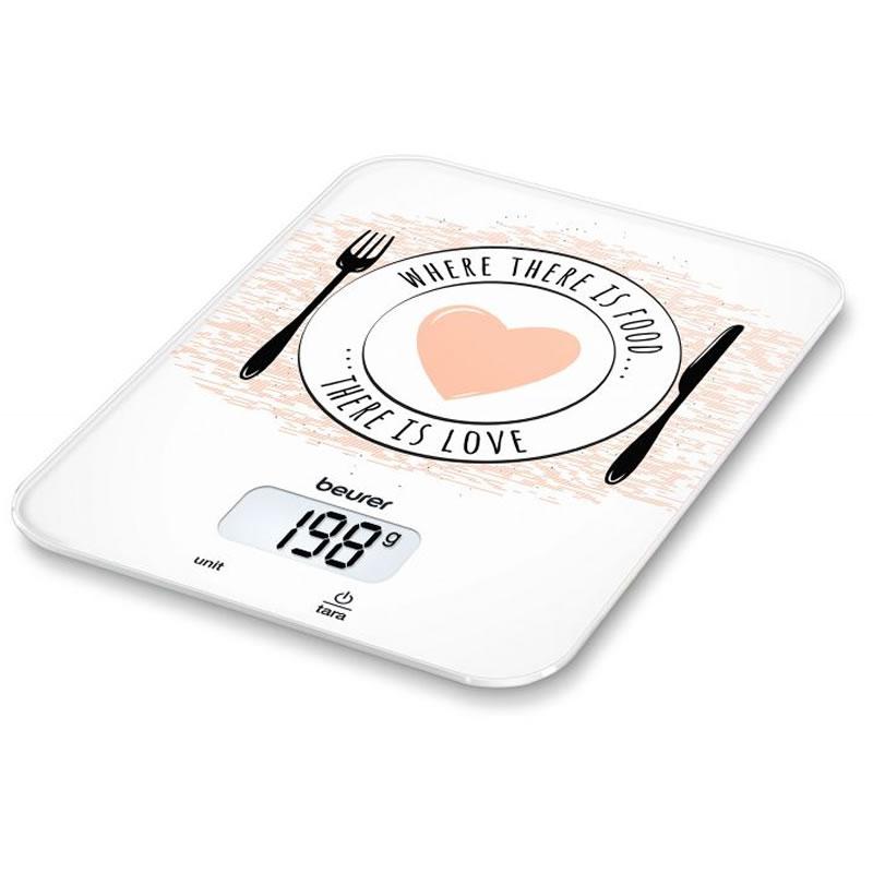 Cantar de bucatarie Beurer KS19 Love, 5 kg, taste senzori 2021 shopu.ro