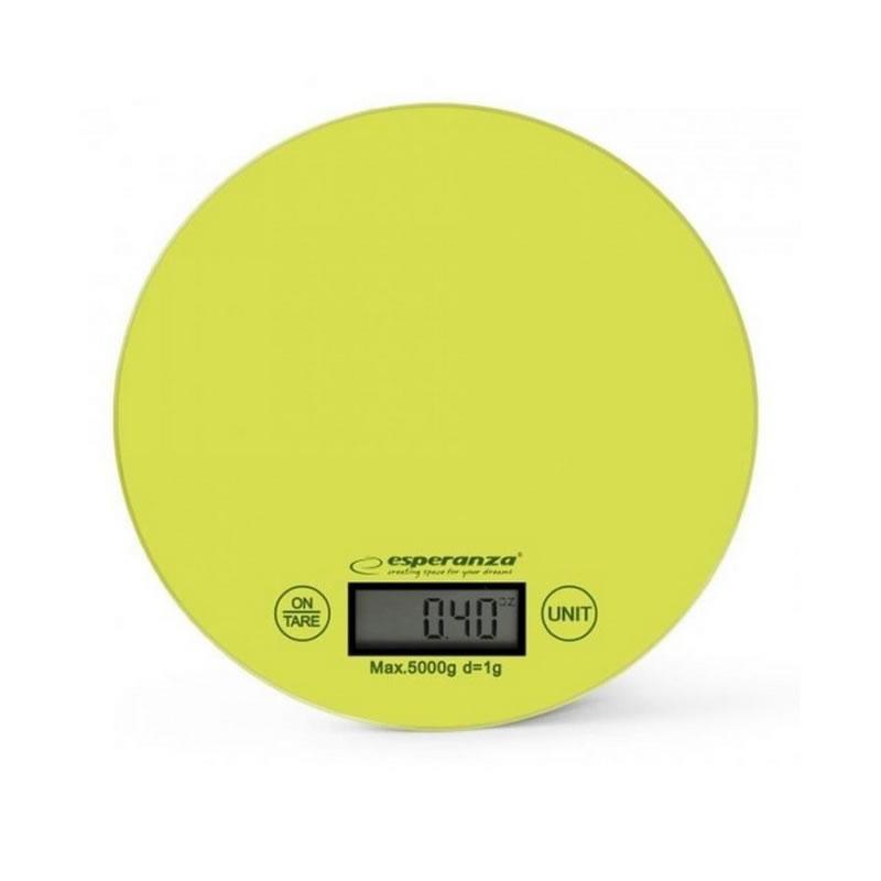 Cantar de bucatarie Esperanza Mango, maxim 5 kg, verde 2021 shopu.ro