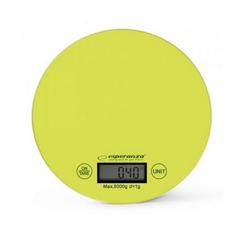 Cantar de bucatarie Esperanza Mango, maxim 5 kg, verde