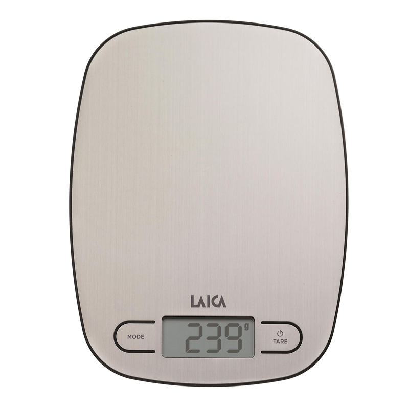 Cantar de bucatarie Laica, 5 kg, ecran LCD, platforma otel inoxidabil 2021 shopu.ro