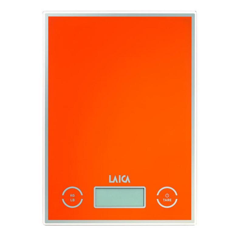 Cantar de bucatarie Laica, 5 kg, functie Touch-Senzor, TARA, Portocaliu 2021 shopu.ro