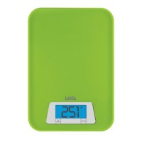 Cantar de bucatarie compact Laica, 3 kg, functie TARA, Verde
