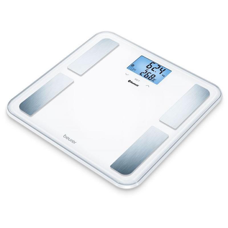 Cantar diagnostic Beurer BF850, bluetooth smart, calculare IMC, Alb