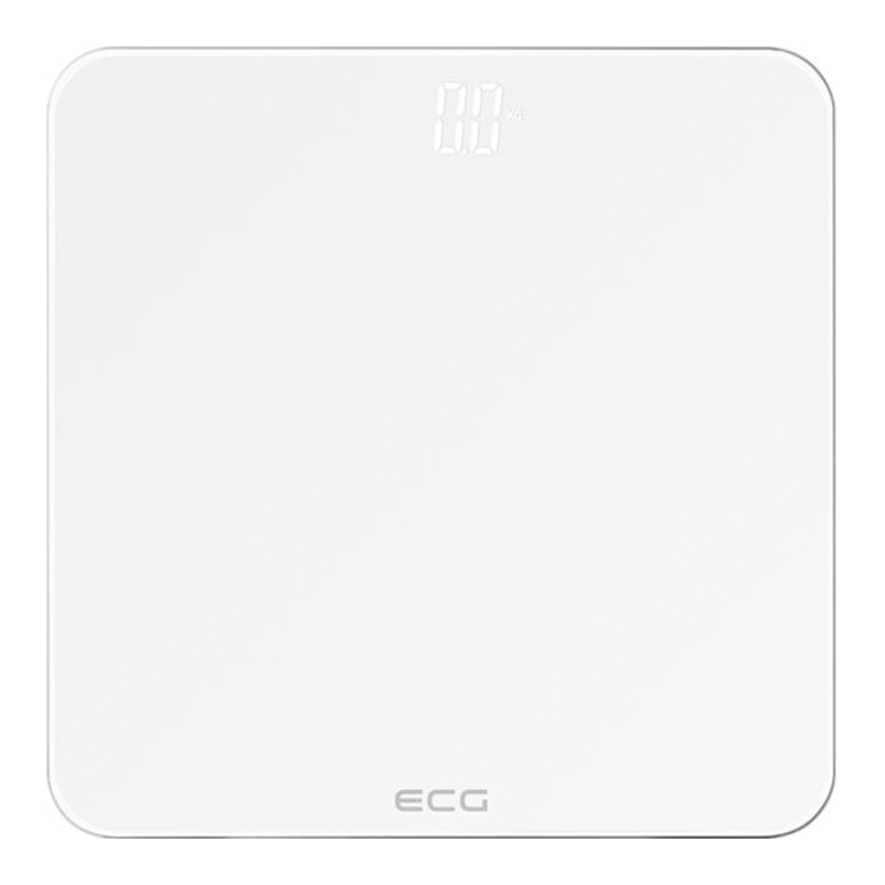 Cantar de persoane ECG, 180 kg, LED, sticla securizata, Alb 2021 shopu.ro