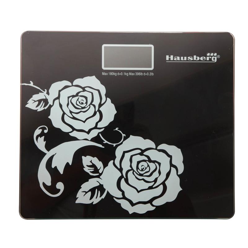 Cantar digital Hausberg, 150 kg, LCD, Negru 2021 shopu.ro
