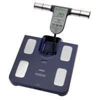 Cantar digital cu analizator Omron BF511, 150 kg, Albastru