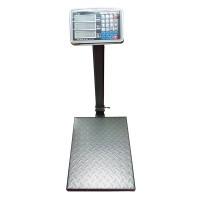 Cantar electronic cu acumulator, 350 kg, display LCD, 7 memorii, platan metalic