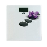Cantar electronic Laica PS1056-A, 180 kg, ecran LCD, model floral
