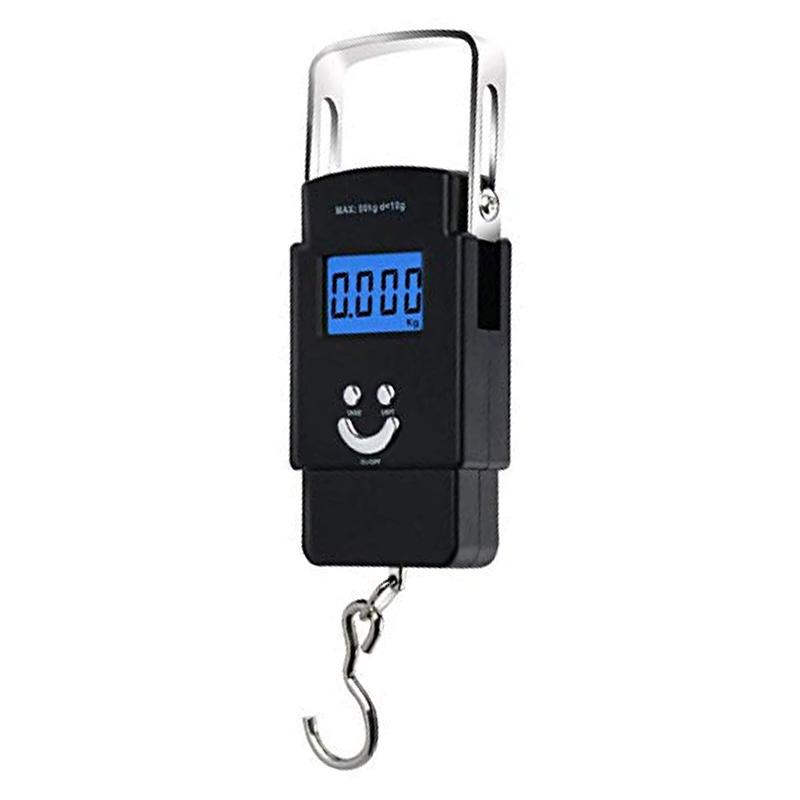 Cantar electronic  Portable Scale, capacitate 40 kg, Negru