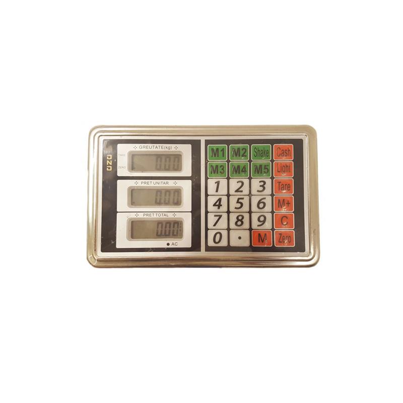 Cantar electronic cu brat fix Lider, 350 kg, platforma 40 x 50 cm, indicator G5, display LCD, adaptor priza