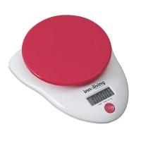Cantar electronic de bucatarie Innofit INN-126, 5 kg, rosu