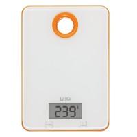 Cantar electronic de bucatarie Laica KS1030, 5 kg, Alb/Portocaliu