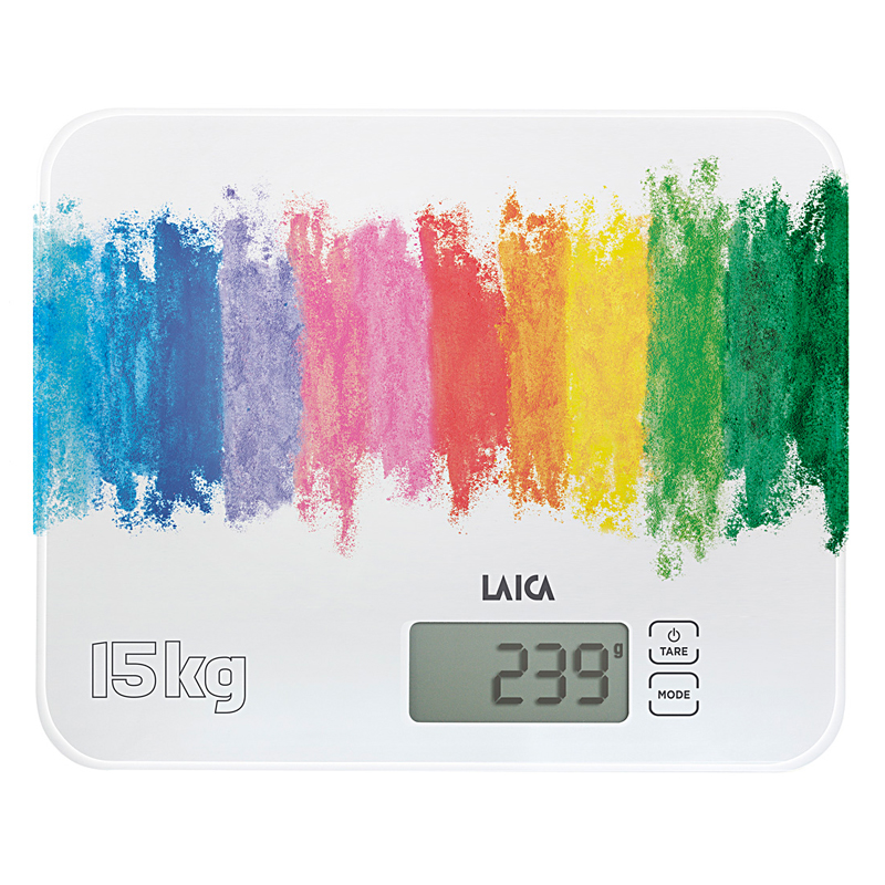 Cantar electronic de bucatarie Laica KS4015, 15 kg, Multicolor