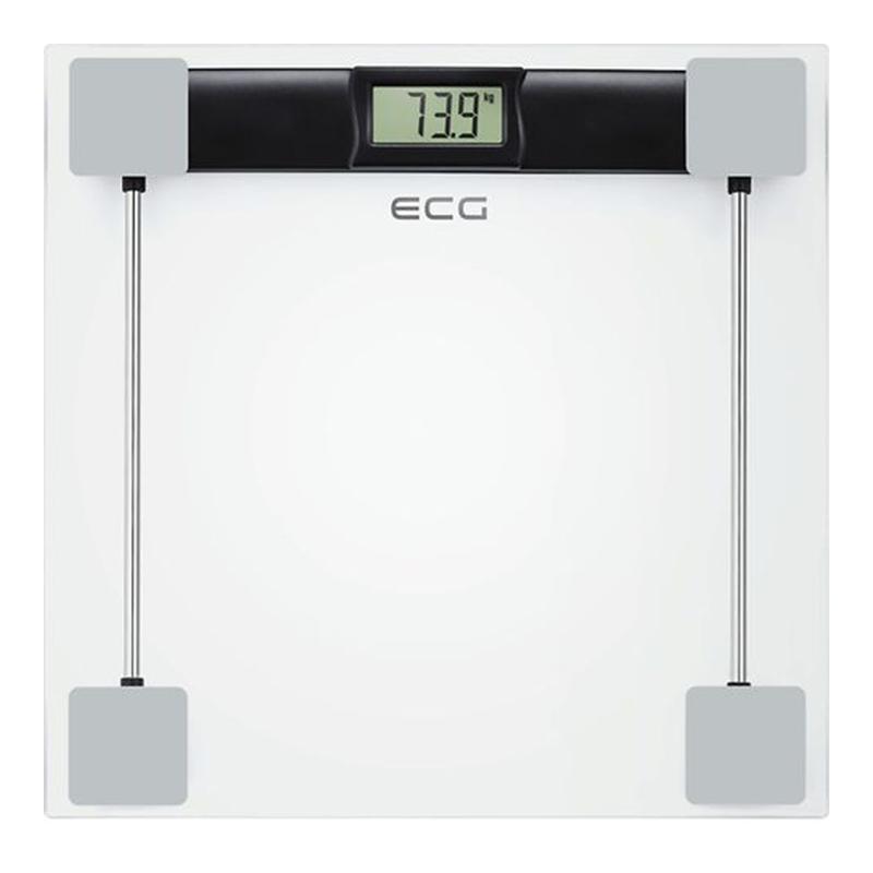 Cantar corporal Ecg, 1 x 3 V, sticla, 17 mm, maxim 180 kg, ecran LCD 2021 shopu.ro