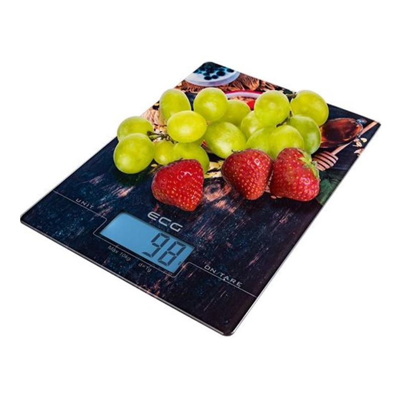 Cantar digital de bucatarie Ecg, 2 AAA x 1.5 V, sticla, maxim 10 kg, functie TARA, precizie 1 g, LCD 2021 shopu.ro