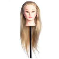 Cap practica 5A, 60 cm, blond, par sintetic, suport inclus