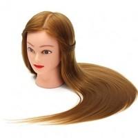 Cap practica par natural, 60 cm, blond, suport inclus