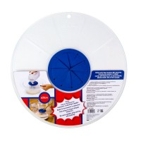 Capac antistropi pentru mixer, 30 cm, Transparent/Albastru