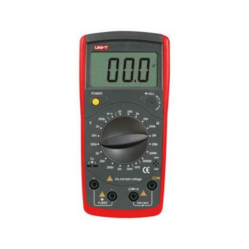Capacimetru digital UNI-T, alimentare baterie, precizie ridicata, rosu shopu.ro