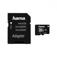 Card microSDHC Hama, capacitate 16 GB, clasa viteza 10, adaptor inclus