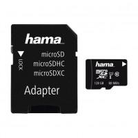 Card microSDXC Hama, capacitate 128 GB, clasa viteza 10, adaptor inclus