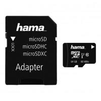 Card microSDXC Hama, capacitate 64 GB, clasa viteza 10 UHS, adaptor inclus