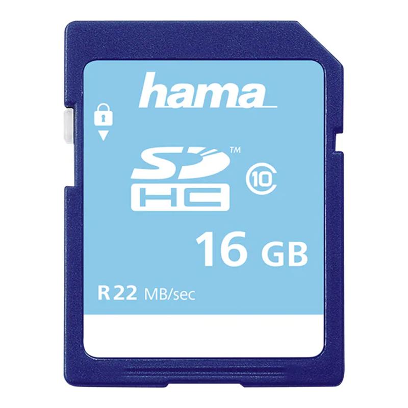 Card de memorie SDHC Hama, clasa 10, 16 GB, Albastru 2021 shopu.ro