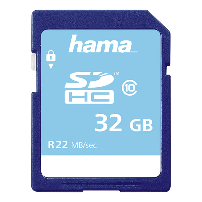 Card de memorie SDHC Hama, clasa 10, 32 GB, Albastru 2021 shopu.ro
