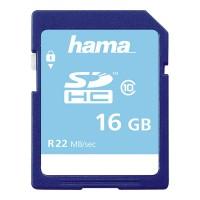 Card de memorie SDHC Hama, clasa 10, 16 GB, Albastru