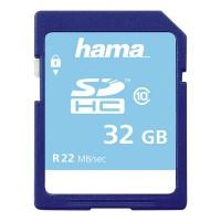 Card de memorie SDHC Hama, clasa 10, 32 GB, Albastru