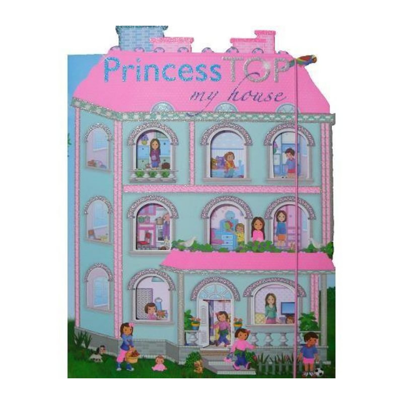 Carte cu abtibilduri Princess TOP My house, editura Girasol, roz imagine