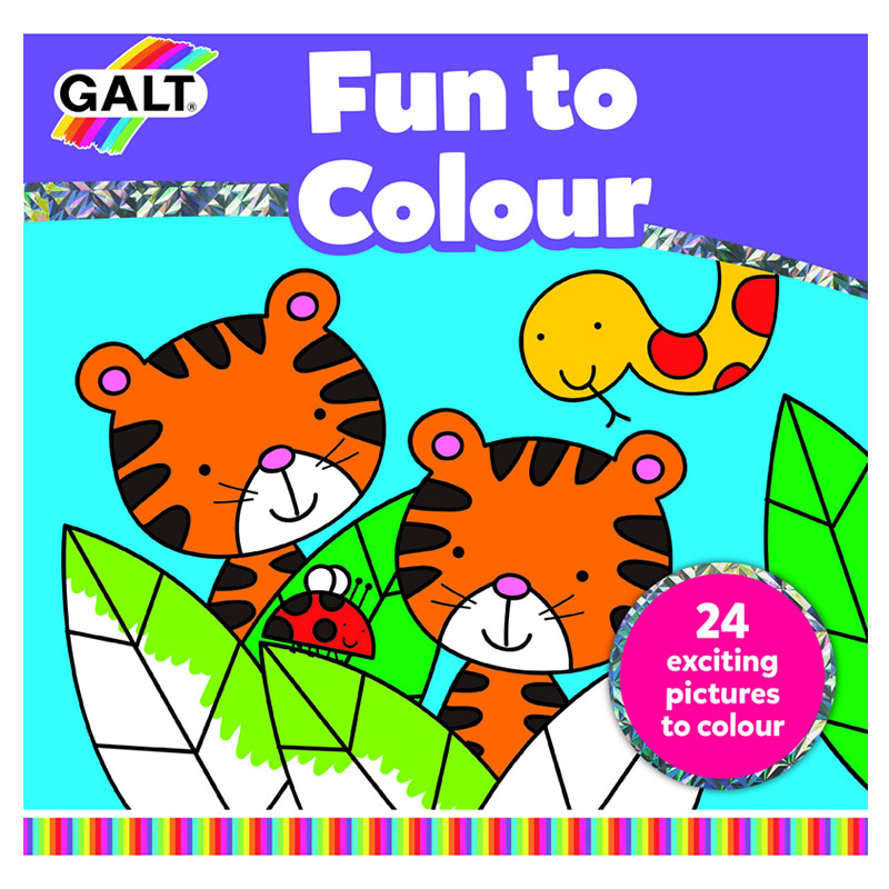 Carte de colorat Galt Fun to Colour, 24 de imagini, dezvolta imaginatia 2021 shopu.ro
