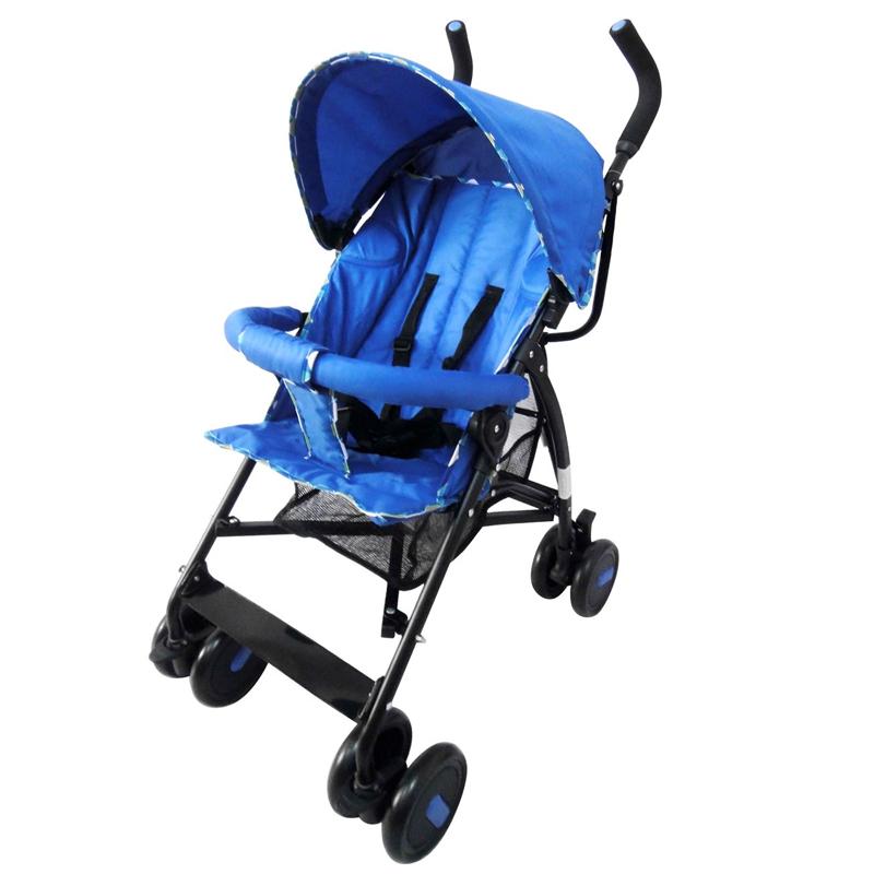 Carucior cu copertina, suporta 15 kg, tip umbrela, Albastru 2021 shopu.ro