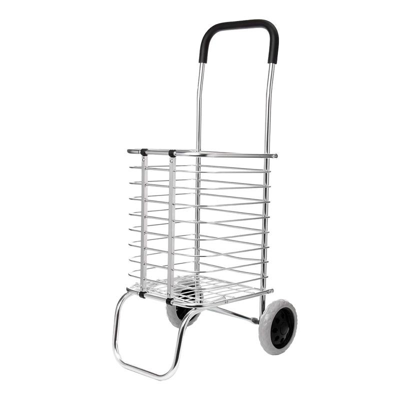 Carucior metalic pentru cumparaturi Grocery Basket, maxim 65 kg, pliabil shopu.ro