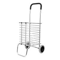 Carucior metalic pentru cumparaturi Grocery Basket, maxim 65 kg, pliabil