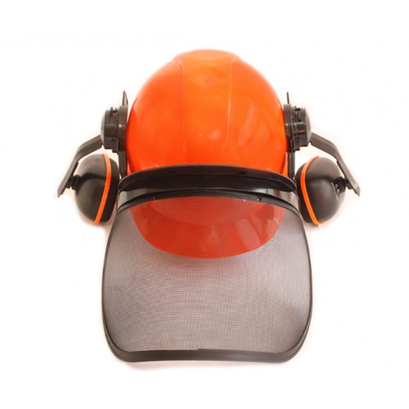 Casca protectie cu viziera Micul Fermier, 55 - 66 cm, antifoane incluse shopu.ro