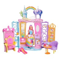 Castel Barbie Dreamtopia, tip valiza, 10 accesorii, 3 ani+