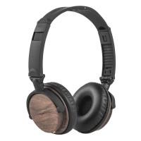 Casti audio cu fir Kruger Matz KM 820, model lemn