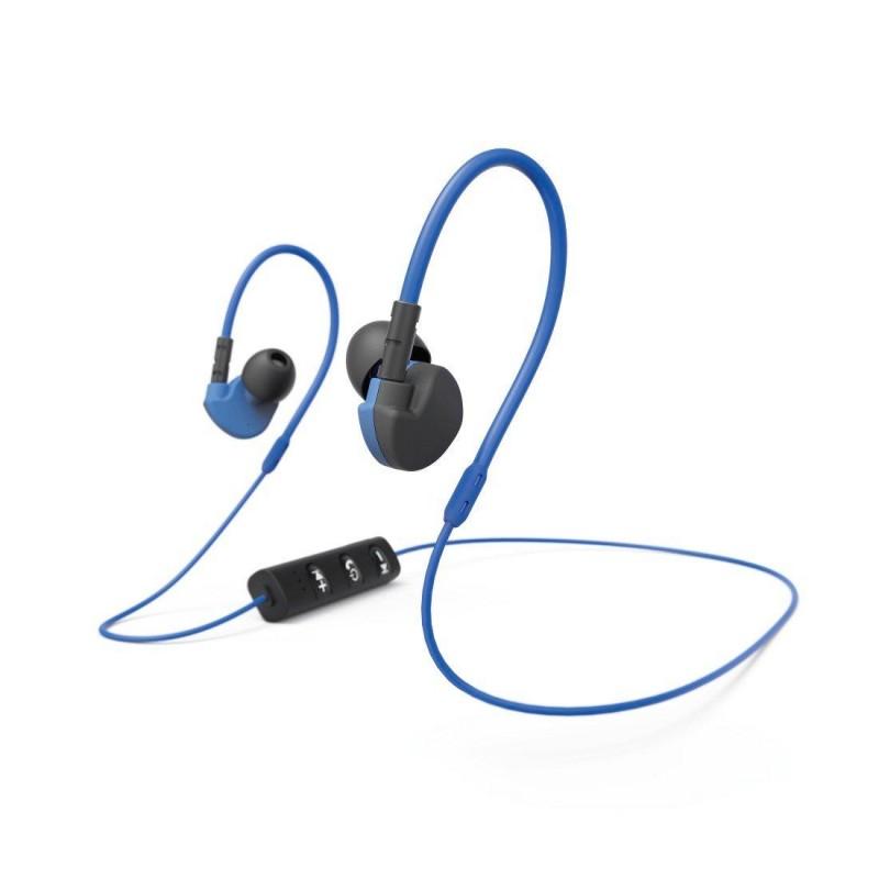 Casti bluetooth Run BT Hama, clip-on sport, microfon, Negru/Albastru 2021 shopu.ro