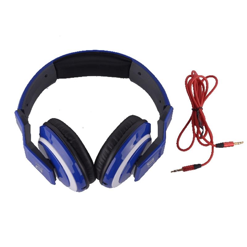 Casti stereo tip DJ 5899, albastre 2021 shopu.ro