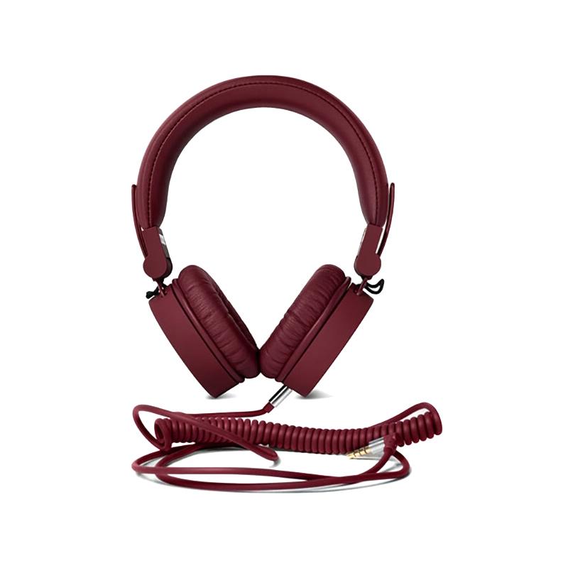 Casti Caps Fresh&Rebel, cu fir, piele ecologica, microfon incorporat, Rosu 2021 shopu.ro