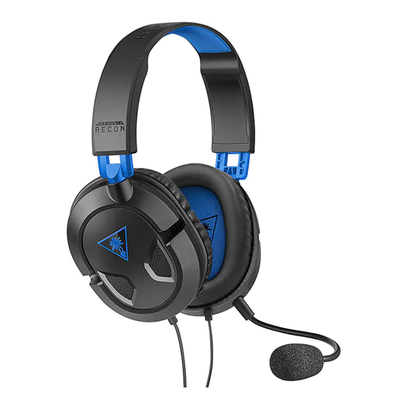 Casti Earforce Recon 50P Turtle Beach, jack 3.5 mm, microfon incorporat, Negru/Albastru 2021 shopu.ro