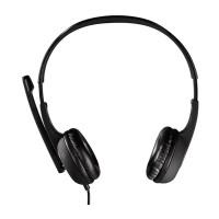 Casti Essential Hama, jack 3.5 mm, cablu 2 m, microfon incorporat, volum reglabil, Negru