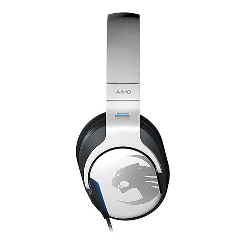 Casti Khan Aimo Roccat, 7.1 surround, USB, RGB, microfon incoroporat, Alb