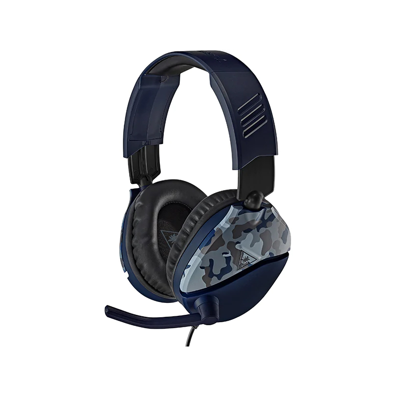 Casti Recon 70 Turtle Beach, multiplatforma, jack 3.5 mm, microfon incorporat, model camuflaj, Albastru 2021 shopu.ro