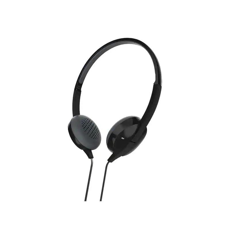 Casti stereo Advance Hama, cu fir, microfon, Negru 2021 shopu.ro