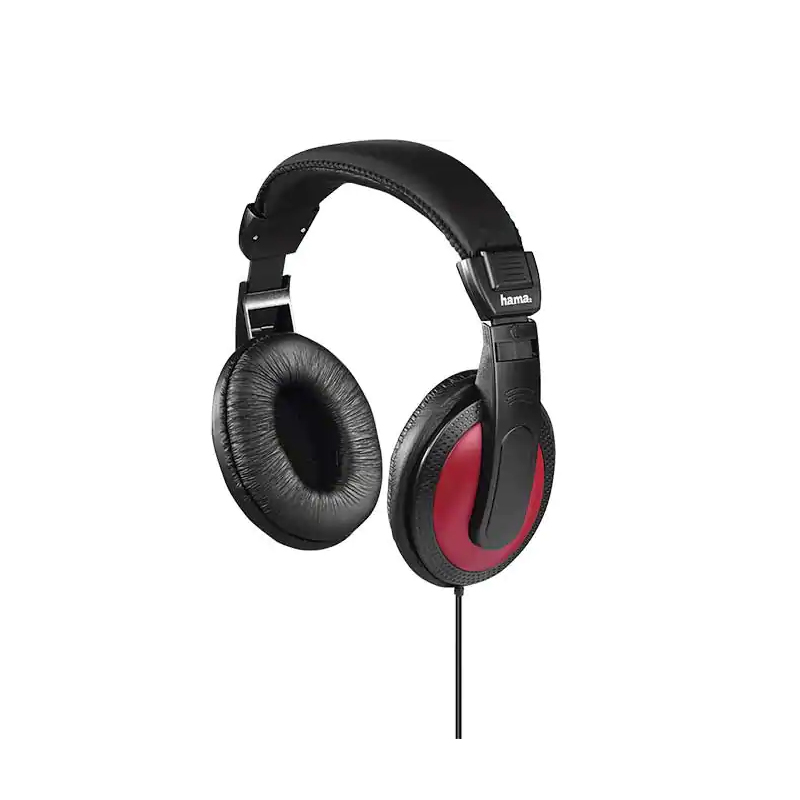 Casti stereo Basic4Music Hama, over the ear, 40 mm, 2 m, Negru/Rosu 2021 shopu.ro