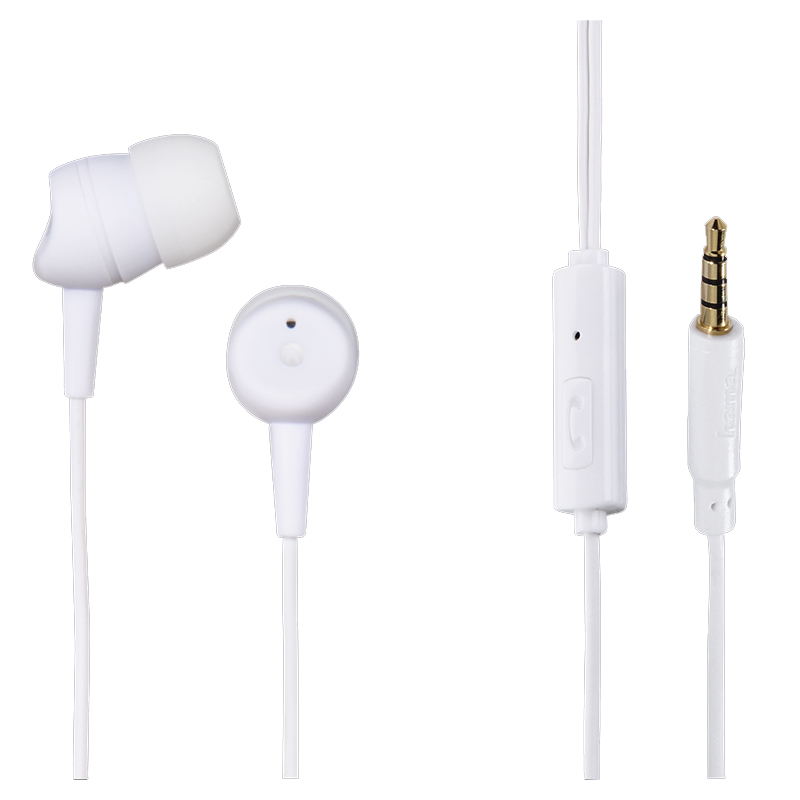 Casti stereo in ear Basic4Phone Hama, silicon, 10 mm, 1.2 m, Alb 2021 shopu.ro