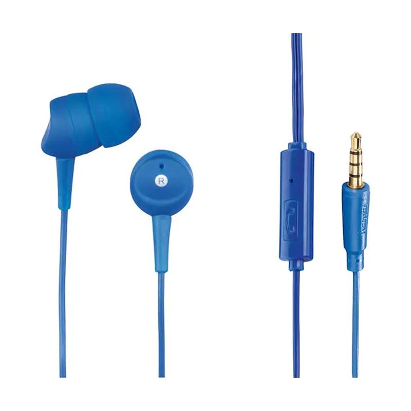 Casti stereo in ear Basic4Phone Hama, 10 mm, 1.2 m, Albastru 2021 shopu.ro